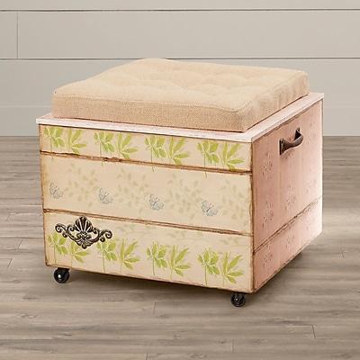One Allium Way Sherwood Crate Storage Ottoman
