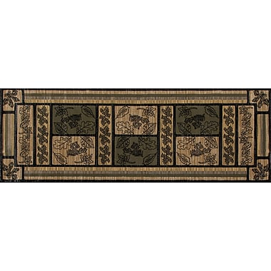 Loon Peak Raritan Trail Green Area Rug; 9'2'' x 12'4''