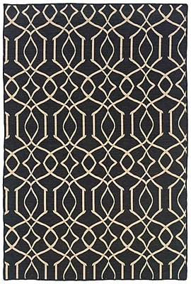 Darby Home Co Blue Heron Hand-Tufted Grey/Natural Area Rug; Rectangle 5' x 8'