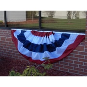 Olympus Flag and Banner Patriotic Striped Nylon Bunting Pleated Flag