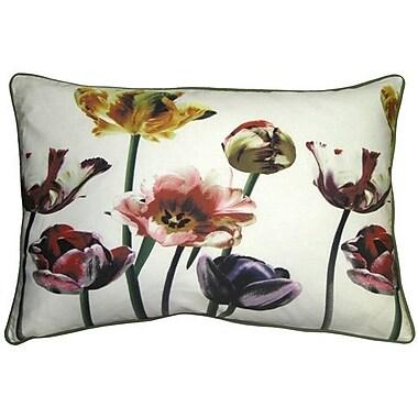 Red Barrel Studio Chaslyn Blooming Tulips Cotton Lumbar Pillow