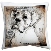 Pillow Decor Boxer Dog Indoor/Outdoor Throw Pillow