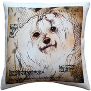Pillow Decor Maltese Dog Indoor/Outdoor Throw Pillow