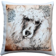 Pillow Decor Poodle Dog Indoor/Outdoor Throw Pillow