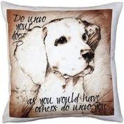 Pillow Decor Do unto Your Dog Throw Pillow