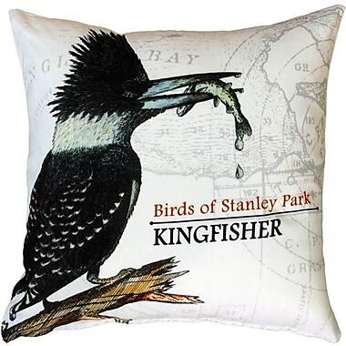 World Menagerie Francene Kingfisher Bird Throw Pillow