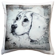 Pillow Decor Beagle Dog Indoor/Outdoor Throw Pillow