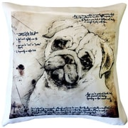 Pillow Decor Pug Dog Indoor/Outdoor Throw Pillow
