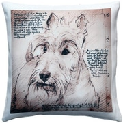 Pillow Decor Scottish Terrier Dog Indoor/Outdoor Throw Pillow