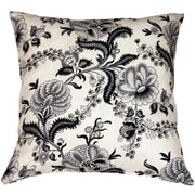Pillow Decor Tuscany Floral Print Linen Throw Pillow