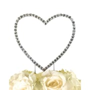 Unik Occasions Simply Elegant Single Heart Cake Topper