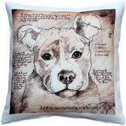 Pillow Decor Pit Bull Dog Indoor/Outdoor Throw Pillow
