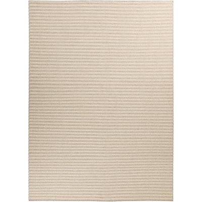 Union Rustic Walton Winter White/Desert Sand Striped Rug; 8' x 11'
