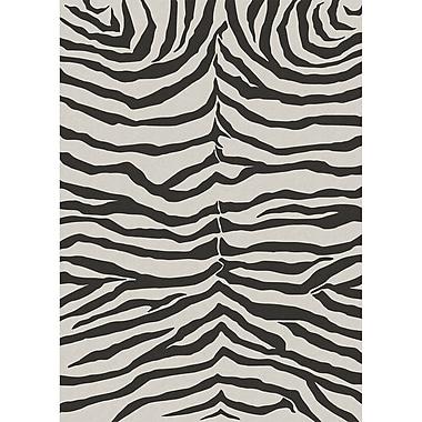 Ruggable Zebra Safari Black Indoor/Outdoor Area Rug