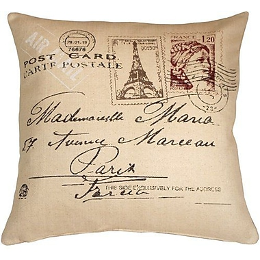One Allium Way Beaudette Postcard to Paris Throw Pillow