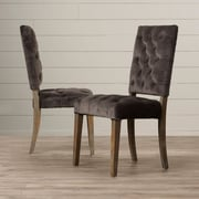 One Allium Way Coulonge Side Chair (Set of 2); Charcoal