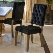 One Allium Way Coulonge Side Chair (Set of 2); Black