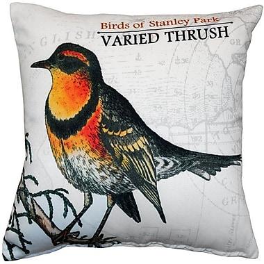 World Menagerie Francena Varied Thrush Bird Throw Pillow