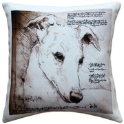 Pillow Decor Greyhound Dog Indoor/Outdoor Throw Pillow