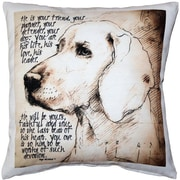 Pillow Decor Devoted Dog Throw Pillow
