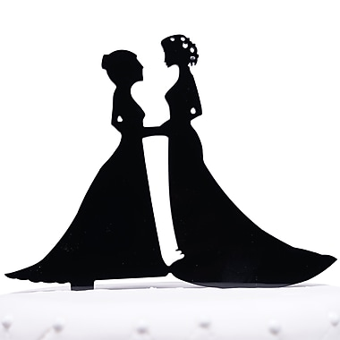 Unik Occasions Lesbian Couple Silhouette Acrylic Wedding Cake Topper