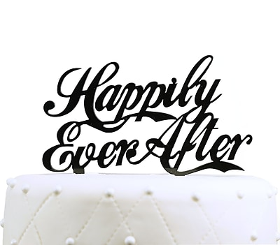 Unik Occasions Happily Ever After Acrylic Wedding Cake Topper