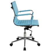 Lone Star Chairs Mid-Back Desk Chair; Turquoise