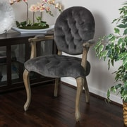 One Allium Way Belclaire Arm Chair; Charcoal