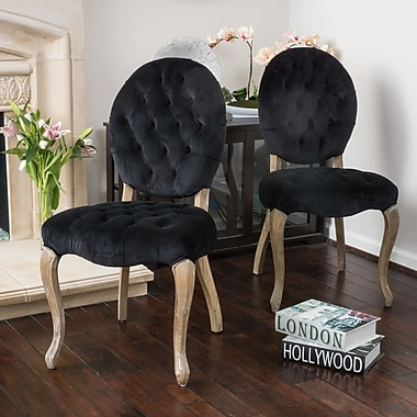 One Allium Way Belclaire Side Chair (Set of 2); Black