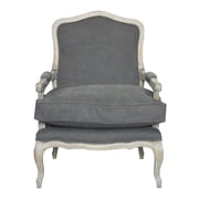 One Allium Way Beulah Arm Chair; Frost Gray