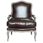 One Allium Way Beulah Arm Chair; White/Whiskey