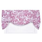 One Allium Way Lablanc 60'' Toile Tie-Up Curtain Valance; Red
