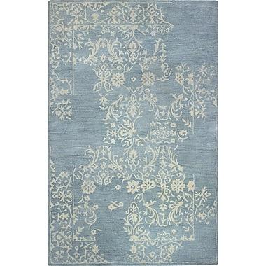 One Allium Way Coeur d'Alene Hand-Tufted Light Blue Area Rug; 5'6'' x 8'6''