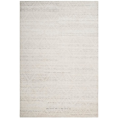 One Allium Way Alter Hand-Knotted Gray Area Rug; 6' x 9'