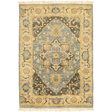 One Allium Way Brie Hand-Knotted Lime Area Rug; 3'6'' x 5'6''