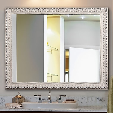 One Allium Way Rectangle French Victorian Wall Mirror; 40'' H x 30'' W