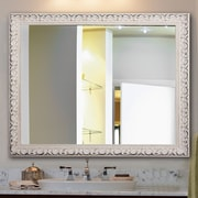 One Allium Way Rectangle French Victorian Wall Mirror; 48'' H x 36'' W
