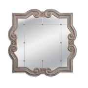 One Allium Way Wooden Square Wall Mirror