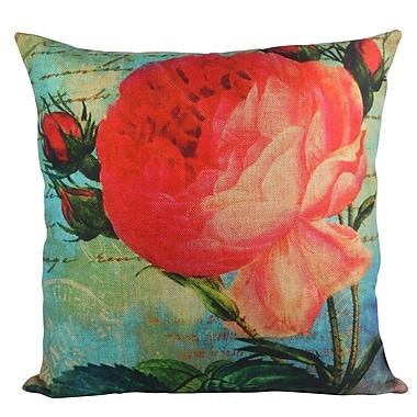 Pal Fabric Rose Bloom Garden Throw Pillow