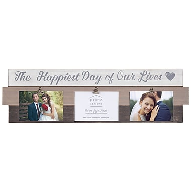 Prinz 'Happiest Days' Plank Picture Frame