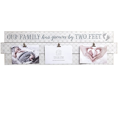 Prinz 'Grown by Two Feet' Baby Plank Picture Frame