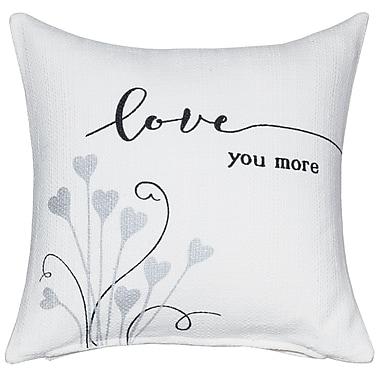 Prinz 'Love You More' Sentiment Cotton Throw Pillow