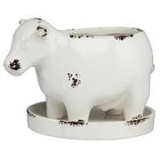 Prinz Cow Glazed Ceramic Statue Planter