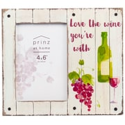 Prinz Messages & Moments 'Love the Wine' Distressed Plank Picture Frame