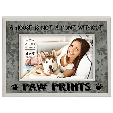 Prinz Messages & Moments 'A House .Paw Prints' Wood Picture Frame