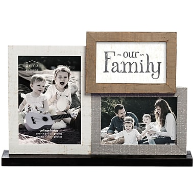 Prinz Casual Pallet 'Our Family' Mantel Collage Picture Frame