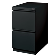 Symple Stuff 2 Drawer Mobile Pedestal File Cabinet; Black