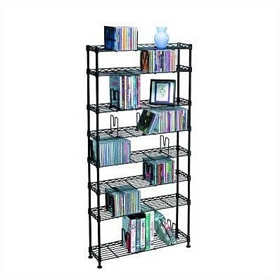 Symple Stuff 8-Tier Adjustable Multimedia Wire Rack WYF078280341684
