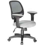 Symple Stuff Mid-Back Mesh Desk Chair; Grey
