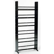 Symple Stuff Deco Storage Multimedia Storage Rack; Black